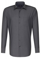 Seidensticker - Plain business cotton shirt modern fit long arm