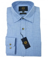Viyella Plain 80/20 Cotton Wool Blend Shirt