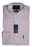 Viyella Cotton Pink Oxford Spot Shirt