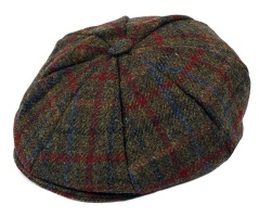 Dents - Harris Tweed 8 piece cap