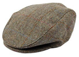 Dents - Harris Tweed flat cap