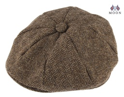 Dents - Abraham Moon Yorkshire Herringbone Tweed 8 Piece Cap