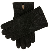 Dents Exton Men's Cashmere Lined Carpincho Leather Gloves