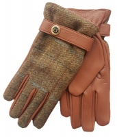 Dents Muncaster Men's Hairsheep Leather Gloves with tweed back