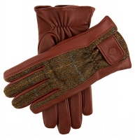 Dents Knowsley Men's Hairsheep Leather Gloves with Moon tweed back