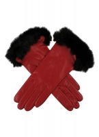 Dents - Glamis Ladies Silk Lined Hairsheep Leather Gloves with Fur Cuffs