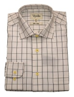 Viyella Cotton Shirt with a large tattersall check