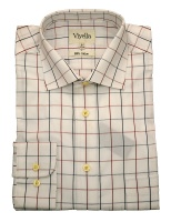 Viyella Cotton Shirt with a large fine tattersall check