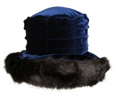 Dents - Velvet Hat with Faux Fur Brim