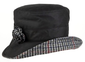 Dents - Wax Cotton Bucket Hat with Tweed Detail