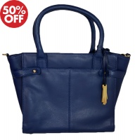 Dents - Zip top tote bag with detachable strap royal blue
