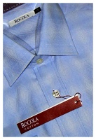 Rocola - Easycare blue diamond cotton shirt