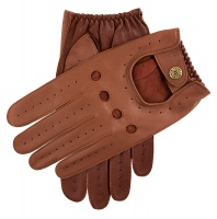 Dents - Waverley Mens Hairsheep Leather Two Colour Driving Gloves Cognac Tan