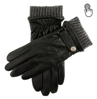 Dents Henley Men's Warm Lined Touchscreen Leather Gloves