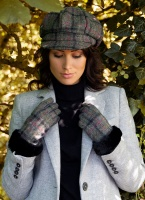 Dents - Women's Abraham Moon Tweed Gloves with Faux Fur Cuffs