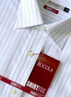 Rocola - Shirttec white shirt with pale blue stripes