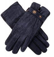 Dents - Laura Women's Suede Gloves with Strap Detail