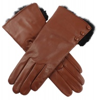 Dents - Sophie Ladies Hairsheep Leather Gloves with Fur Cuffs