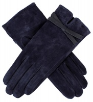 Dents - Grace Women's Suede Gloves with Leather Bow Detail