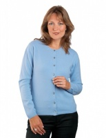 William Lockie - Charlotte 1ply Cashmere round neck cardigan