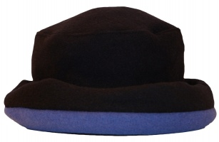 James Wool Cashmere Cloche Navy Cobalt