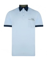 Gabicci - Plain polo shirt with contrasting collar and piping