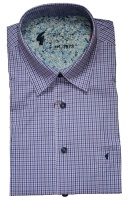 Gabicci - Elderberry checked short sleeve shirt