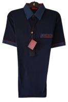 Gabicci - Plain polo shirt with contrasting collar sleeve ends and pocket top detail