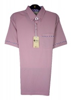 Gabicci - Plain polo shirt fine pattern piping