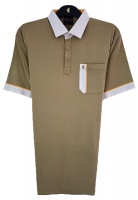 Gabicci - Plain polo shirt with contrasting collar and sleeve ends
