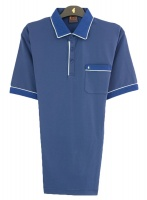 Gabicci - Plain polo shirt with contrast piping detail