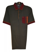 Gabicci - Plain polo shirt with contrasting collar and sleeve ends and stripey pocket