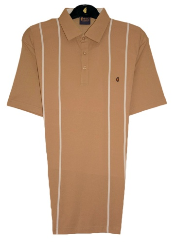 Gabicci - Plain polo shirt with fine stripes