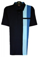 Gabicci -Plain polo shirt with two block stripes