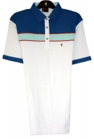 Gabicci -Plain polo shirt with contrast shoulder