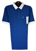Gabicci -Plain polo shirt with contrast collar