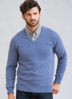 William Lockie Gordon Mens Geelong Lambswool V neck pullover