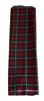 Claret green tartan cloth