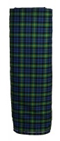 Muted Blue Muted Green Yellow Tartan Cloth