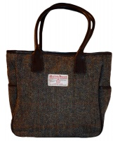 James Sienna Tote Harris Tweed Bag Brown Check