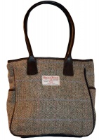 James Sienna Tote Harris Tweed Bag Pastel Check
