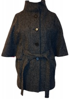 James Harris Tweed Cape Charcoal