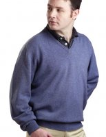 William Lockie - Melrose 2ply cashmere V neck pullover