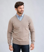 William Lockie - Oxton 1ply cashmere v neck