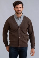 William Lockie Rob Mens Lambswool Cardigan