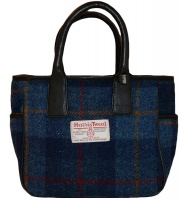James Sienna Handheld Harris Tweed Bag Blue Check