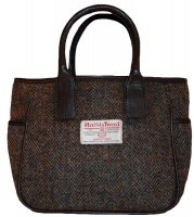 James Sienna Handheld Harris Tweed Bag Brown Check
