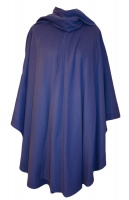 James Wool Cashmere Cape Cobalt