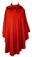 James Wool Cashmere Cape Red