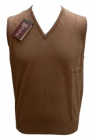 William Lockie Mens Camelhair v neck slipover